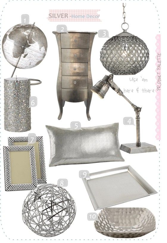 20 Sparkling Silver Finish Home Decor Accents Silver Decor Living Room Decor Home Decor