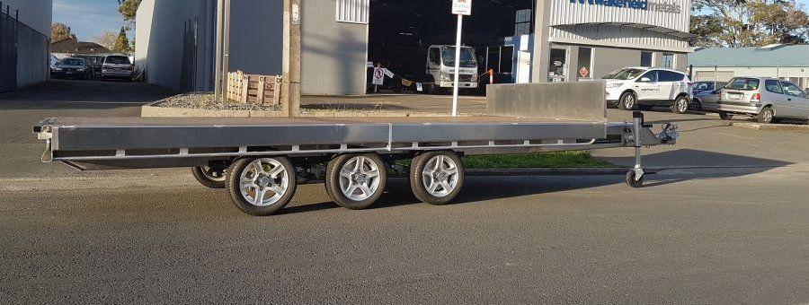 GFAB alloy 4800 x 1950 Flatdeck trailer Trailer, Deck