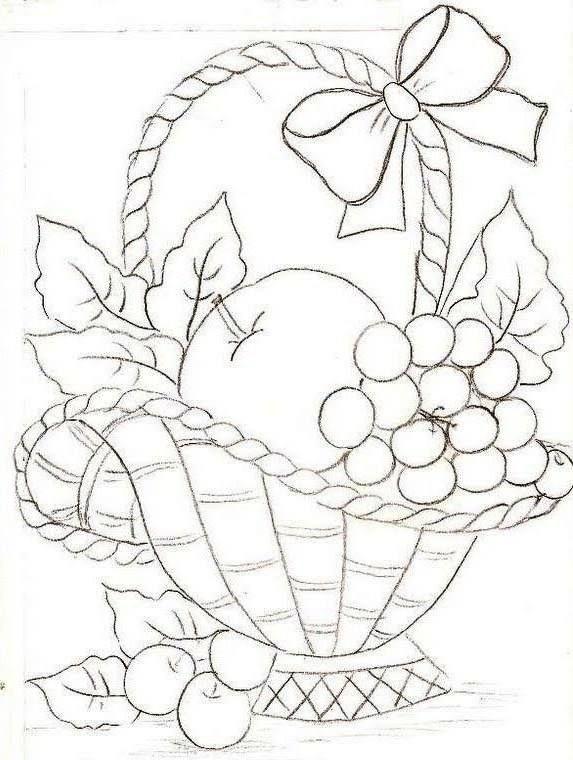 linda cesta | Dibujos para colorear | Pinterest | Cestas, Lindo y ...