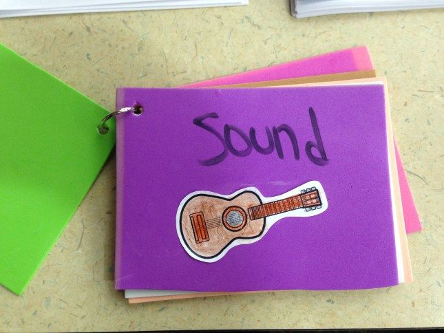 My Five Senses booklet from Five Senses storytime.