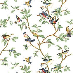 Little Bird wallpaper in white from the Spring Lake