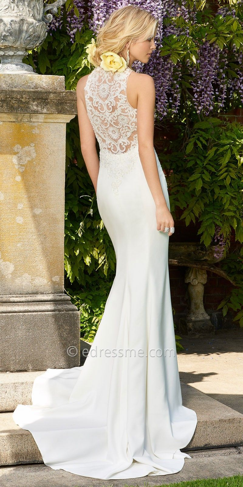 Crepe Racer Back Wedding Dress By Camille La Vie