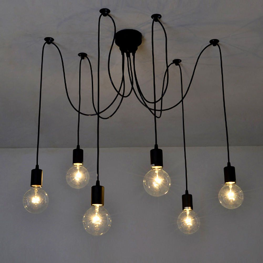 Edison industrial vintage style ajustable ceiling lamp light edison industrial vintage style ajustable ceiling lamp light chandelier e27 ebay arubaitofo Image collections