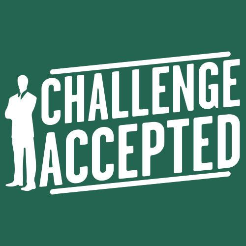 Challenge accepted barney stinson sticker decal himym how i met your mother meme