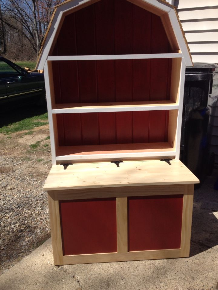 Barn Toy Box Shelf Toy Barn Repurposed Furniture Toy Rooms