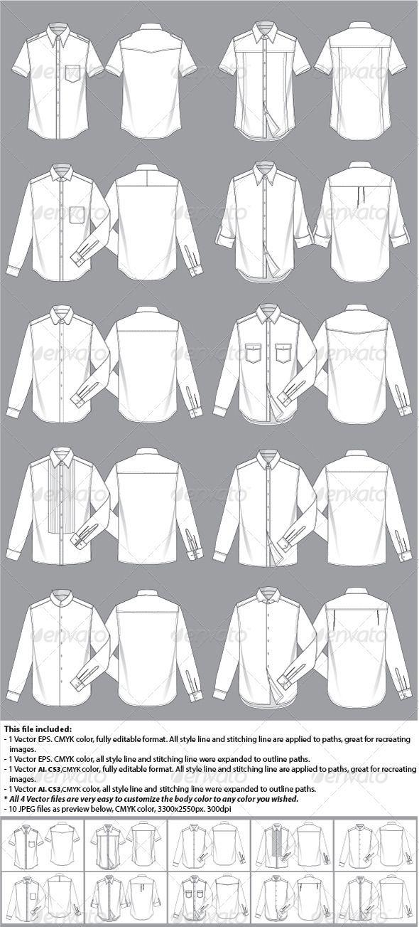 Mens Shirt Template | Pinterest | Fashion illustration template ...