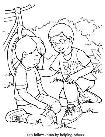 Helping Others Sunday Schoo Coloring Page Fromthru The Bible Coloring Pages For Ages Sunday School Coloring Pages Bible Coloring Pages Bible Coloring Sheets