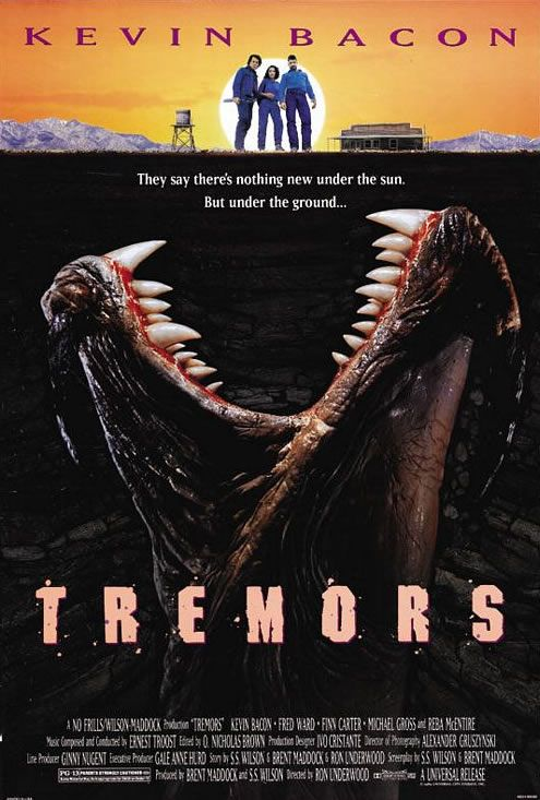 Tremors Kevin Bacon Movie Poster Bing Images Peliculas De Terror Peliculas De Miedo Peliculas Viejas