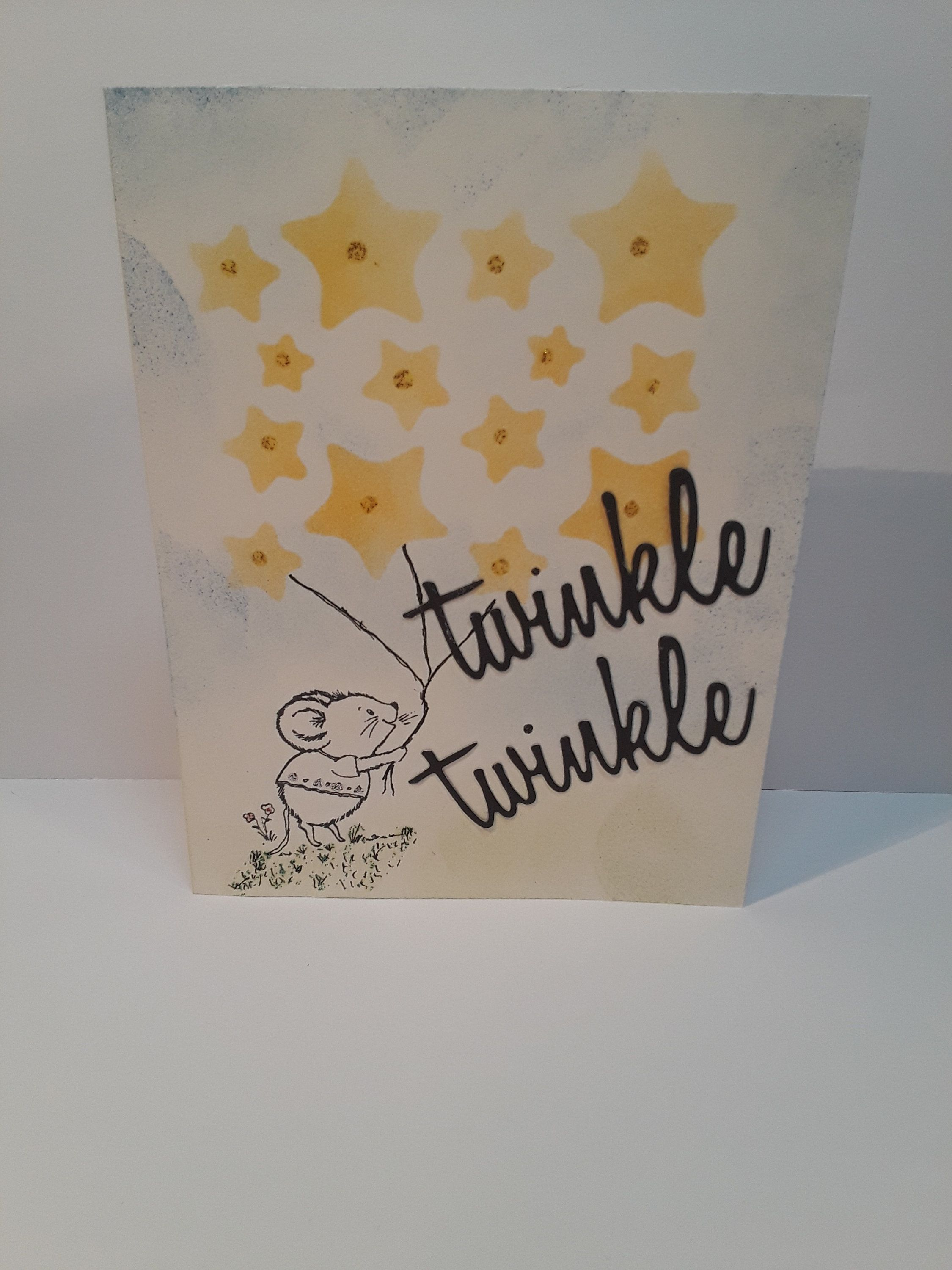 Handmade greeting card thinking of you hello friendship twinkle handmade greeting card thinking of you hello friendship twinkle twinkle little star mouse card cards pinterest twinkle twinkle m4hsunfo