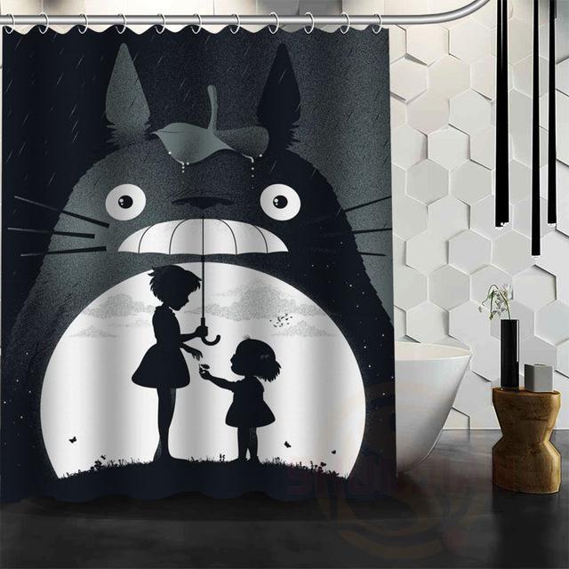 My Neighbor Totoro Shower Blind Bathroom Curtain
