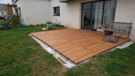terrasse sans dalle | DECO Jardin - terrasse - cloture | Pinterest