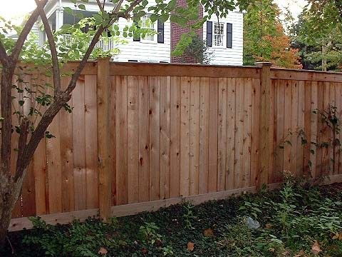 Flatboard 72 High 1x6 Cedar Flatboard With 2x6 Top And Bottom Rail 1x6 Trim Boards 6x6 Pt Pine Posts Cedar Backyard Fences Fence Landscaping Modern Fence