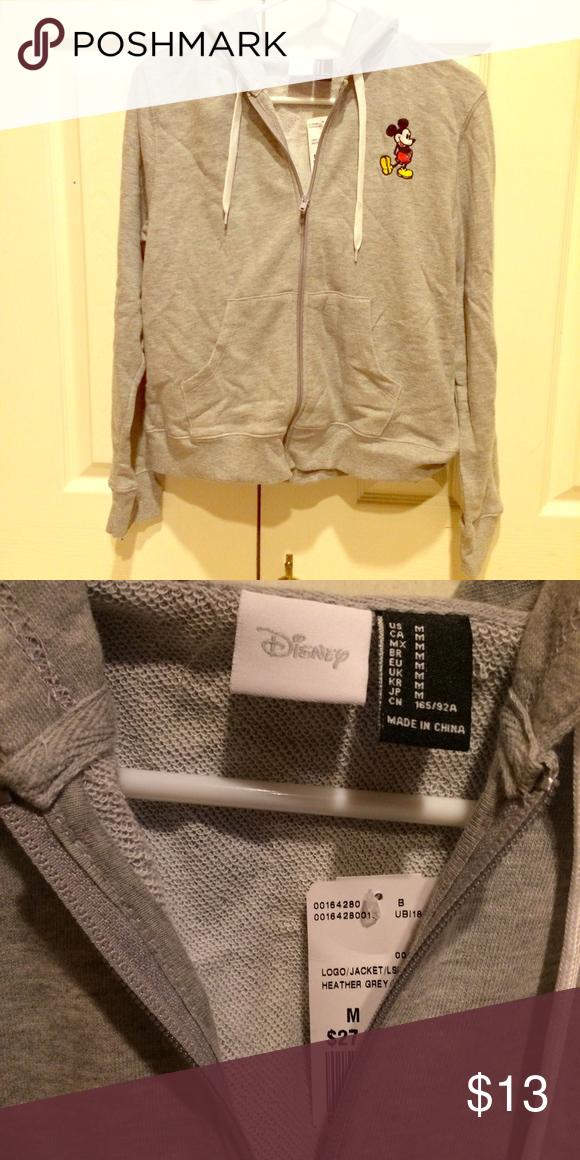 Disney Mickey Mouse zip up sweatshirt Brand new Mickey Mouse zip up. Made by Disney. Disney Tops Sweatshirts & Hoodies