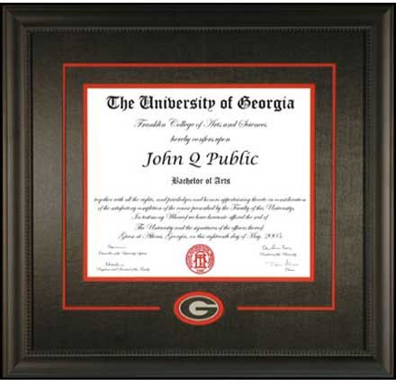 UGA Diploma Frame w/ Georgia G | UGA Diploma Frames | Pinterest