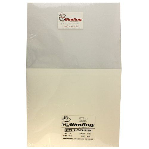 """1/16"""" White Grain ThermaBind Covers 25pk"""