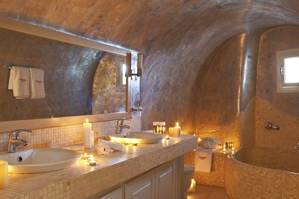 Adamant Suites Santorini Greece Enviably Unique Bathroom Design Unique Bathroom Bathroom Decor
