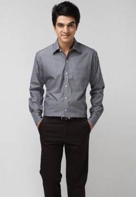 d309f7bbe44 TNG offers a black coloured formal shirt for men. Made of cotton ...