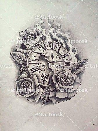 Znalezione Obrazy Dla Zapytania Clock Tattoo Drawing Tatuering Konst Monster