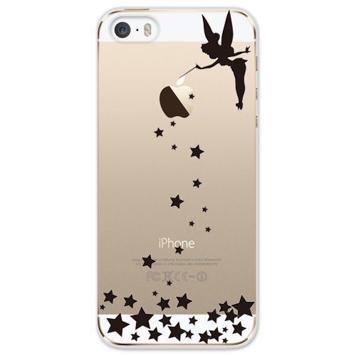 NEW!! iPhone 5s/5 Hard Case Cover Disney Tinker Bell Star clear ...