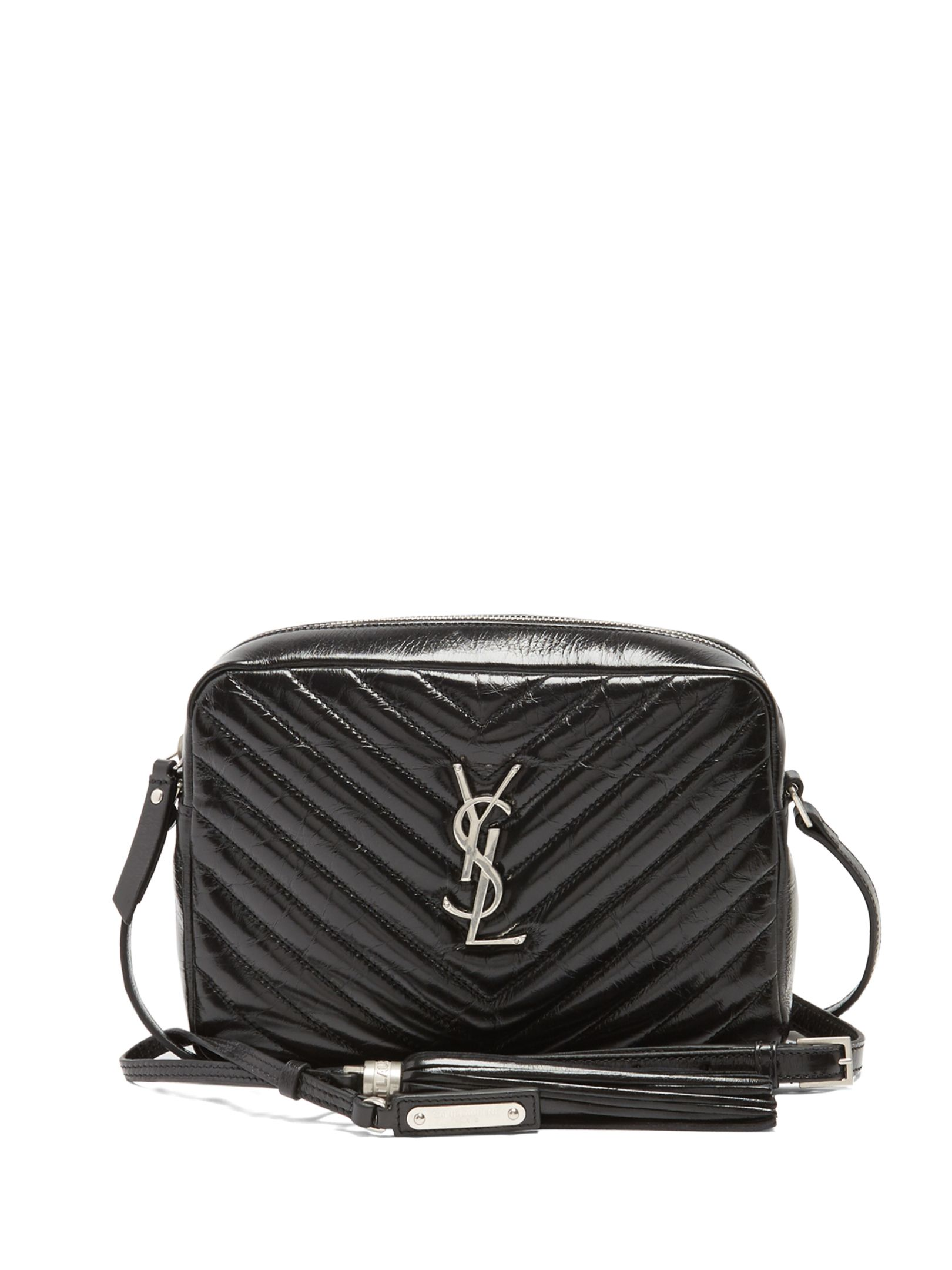 Saint Laurent Lou quilted patent-leather cross-body bag  589518288a589
