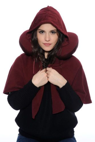 Travel-Pillow-with-Pull-Out-Blanket-Hood-BURGUNDY