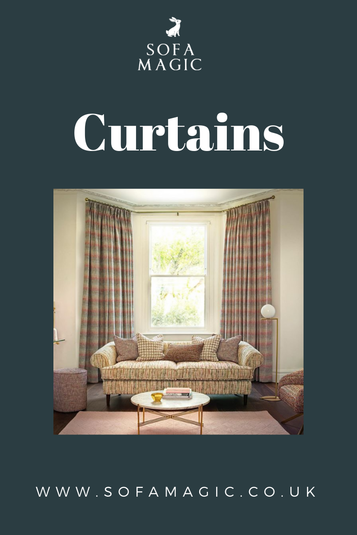 Give your curtains a twist with some texture, like with this wonderful fabric from #Clarke&Clarke's new Mode collection, suitable for all kinds of usage in your home. To discuss how this fabric could fit in your home, contact our Curtains by Sofa Magic team who offer a full curtain design and fitting service. This includes a home visit to measure the window, helpful guidance from our Sofa Magic team when choosing your curtain style and material and more! #handmadecurtains #curtaindesign