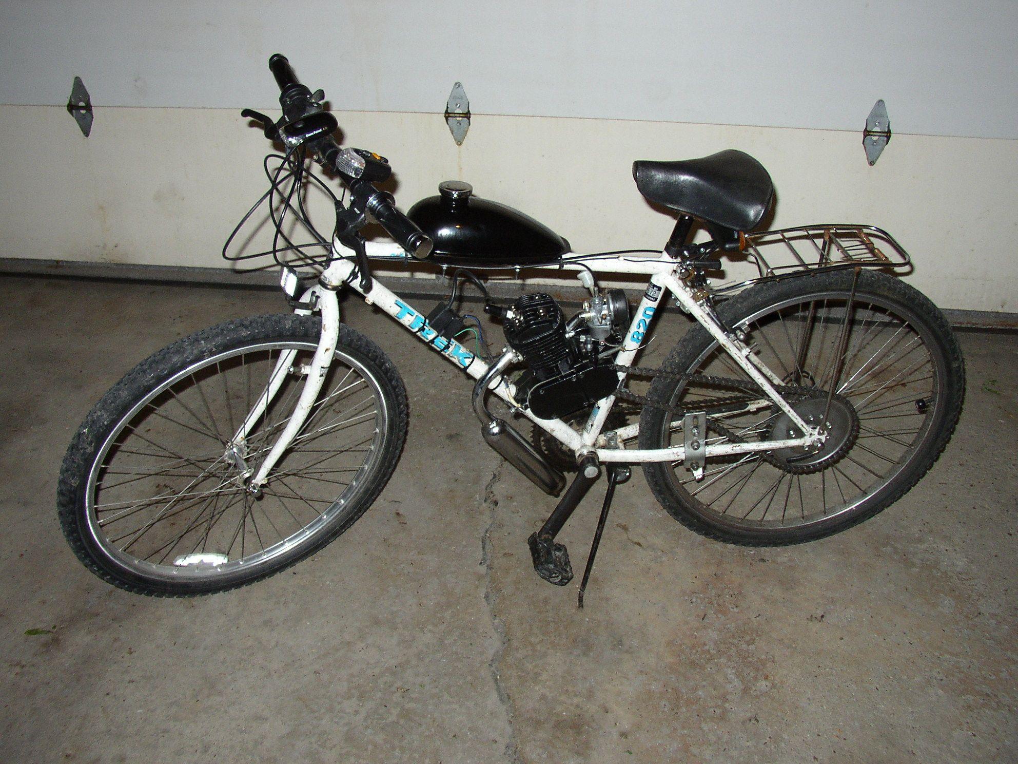 10e6ec0c183 2011 Motorized Bicycle Build - TREK Antelope 820 Mountain Bike (After  Motorized Bicycle Kit)