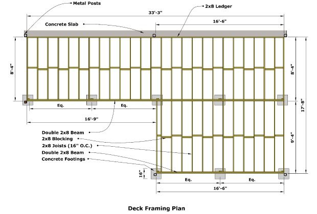 Deck Framing Plan | Space in 2019 | Deck framing, Deck