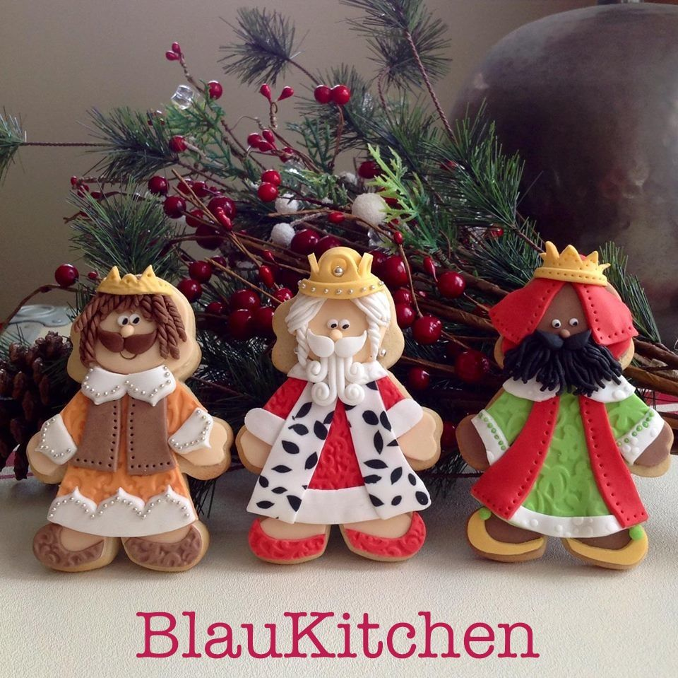 Three Wise Men Cookies. Galletas de los Reyes Magos