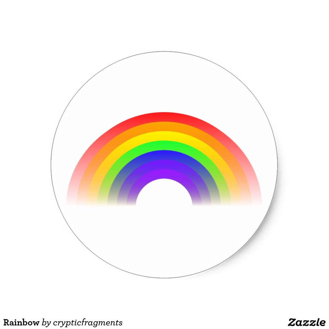 Rainbow Classic Round Sticker