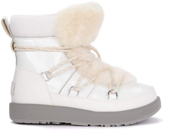438a8640fc7 Ugg Highland White Leather, Rubber And Sheepskin Ankle Boots ...