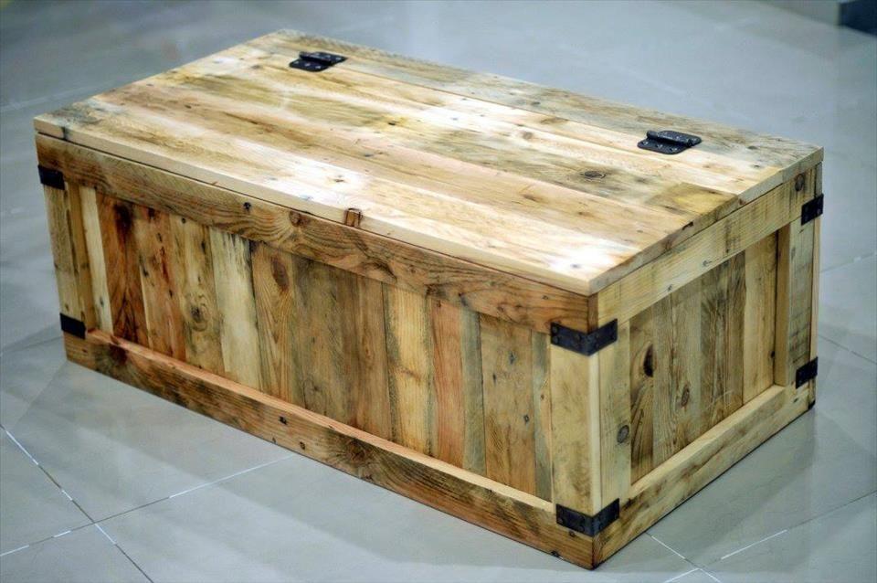 Perfect Pallet Wood Storage Chest · Wooden Pallet CraftsDiy ...
