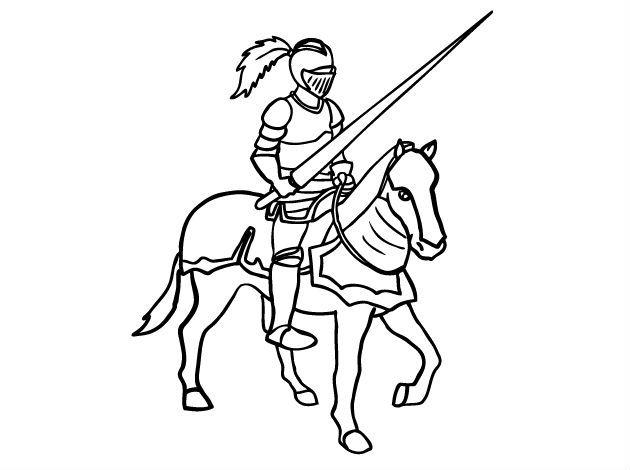Knights Riding Halaman Mewarnai