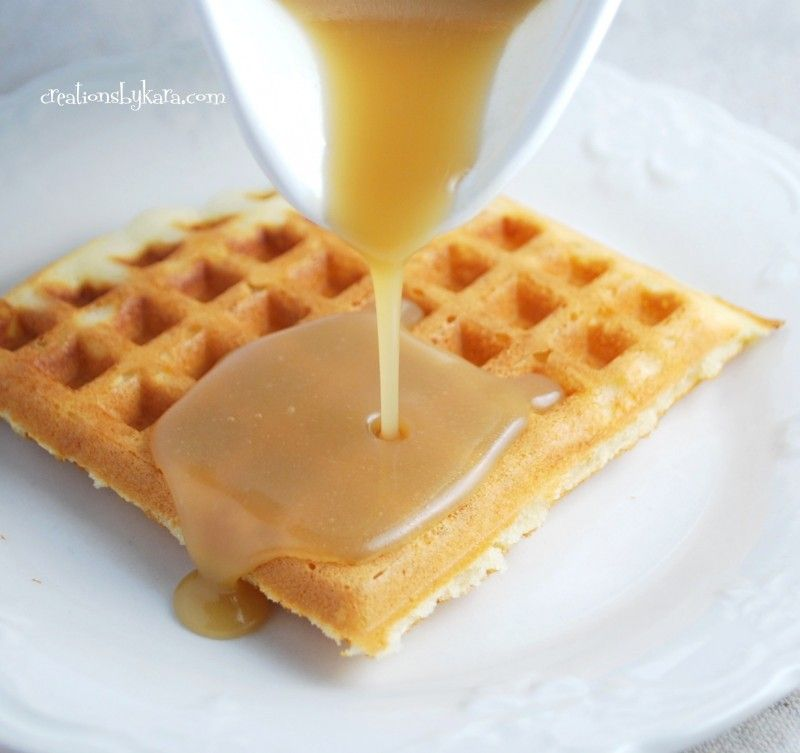 Waffle syrup that will change your life - or at least your breakfast.