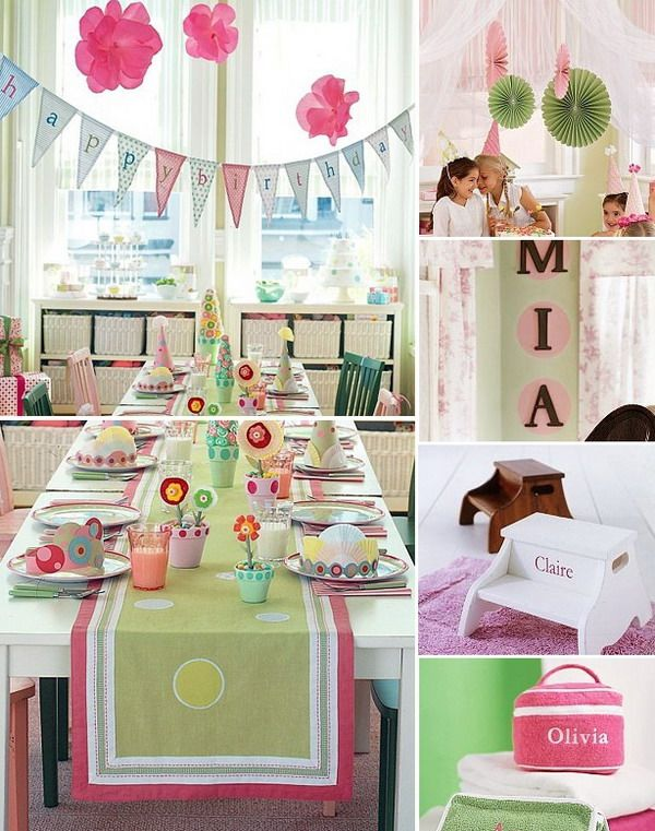Girls Birthday Party With Colorful Home Decorations Style Picture