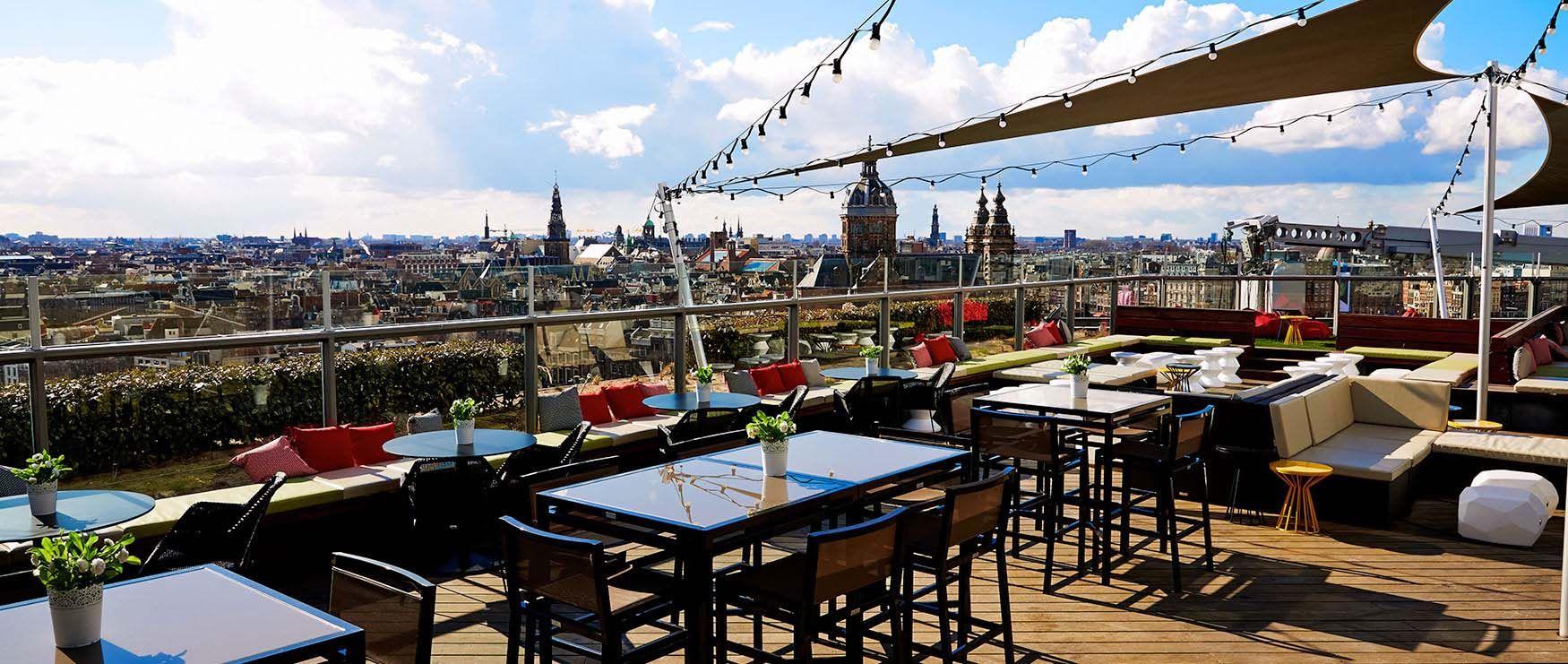 Skylounge Amsterdam In 2020 Best Bars In Amsterdam Best Rooftop Bars Amsterdam Hotel