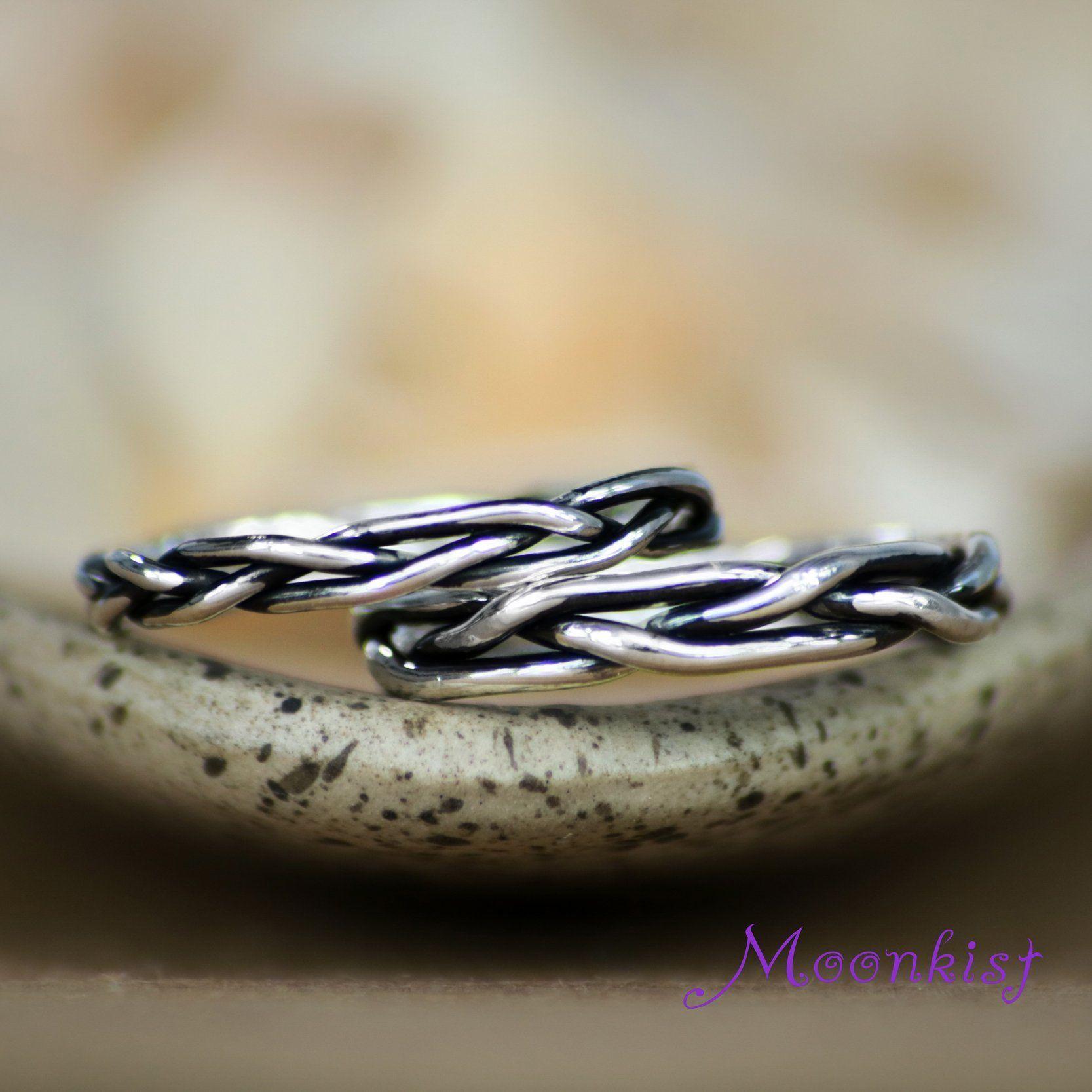 Sterling Silver Unisex Celtic Viking Braid Wedding
