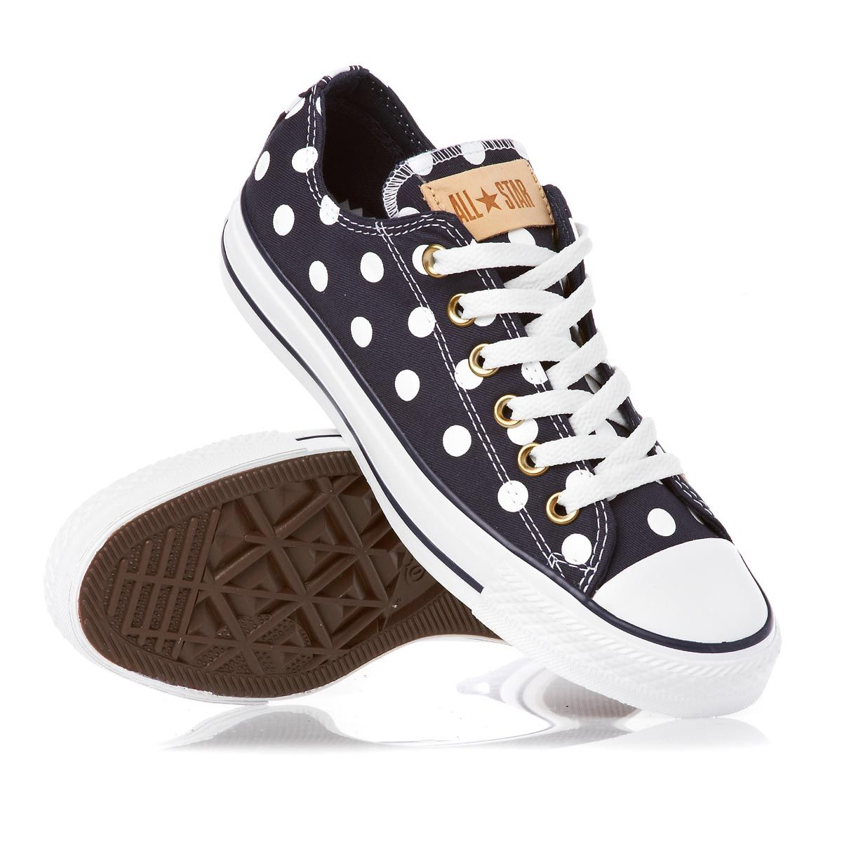 Converse Womens Chuck Taylor All Star Polka Dots Low Top Sneaker