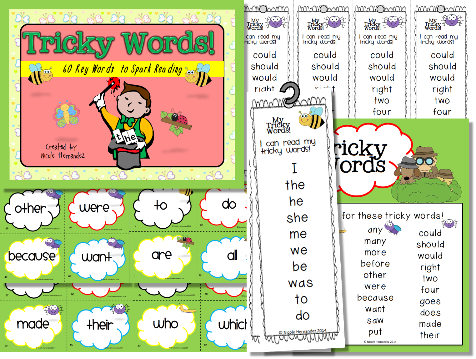 Tricky Words 60 Key Words To Spark Reading