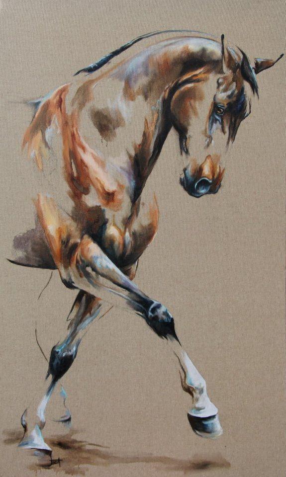 Appuyer   - Laetitia PLINGUET Oil on canvas www.articia.fr