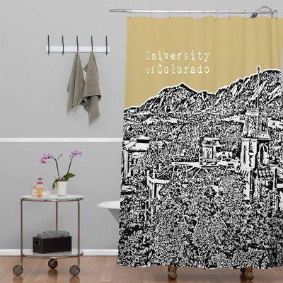 DENY Designs Bird Ave University of Colorado Shower Curtain