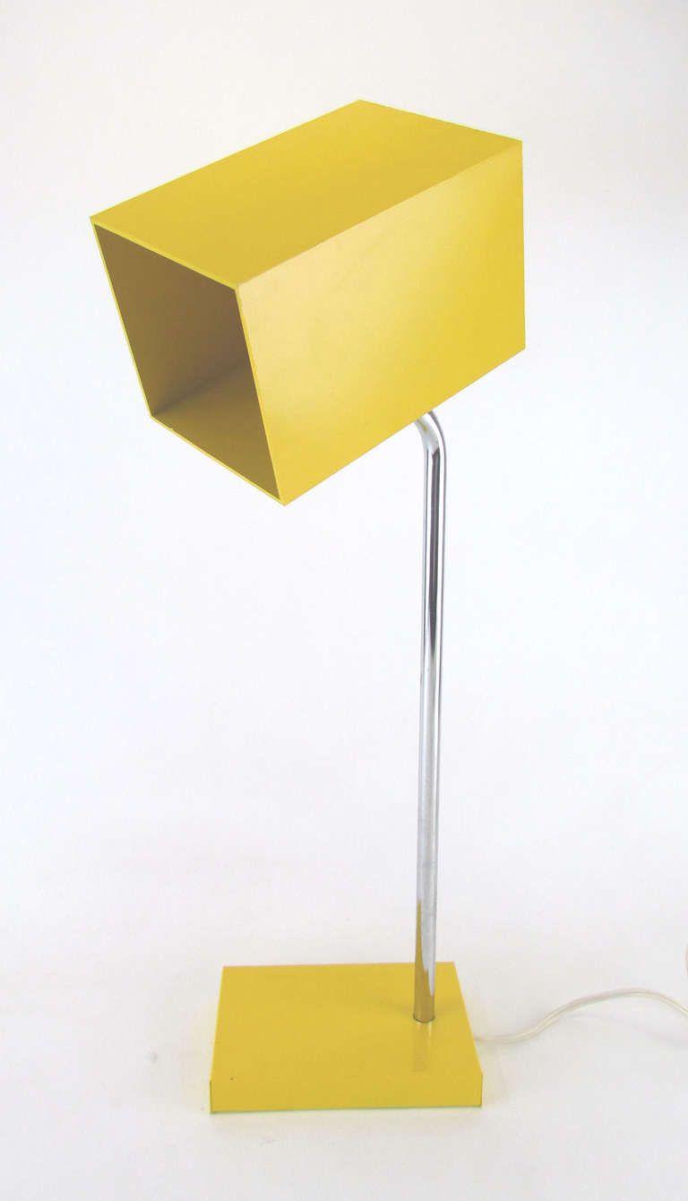 Modernist Desk Lamp With Rectilinear Shade By Robert Sonneman For Kovacs