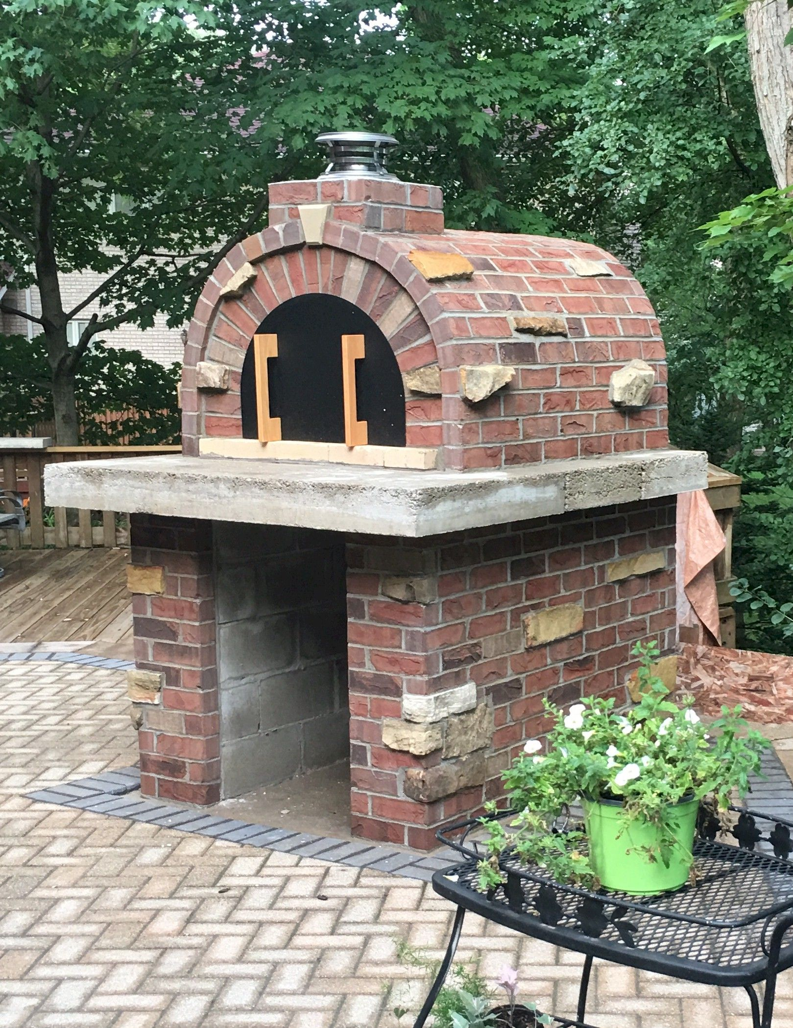 HOW TO BUILD A BRICK PIZZA OVEN | Pizza oven, Backyard ...