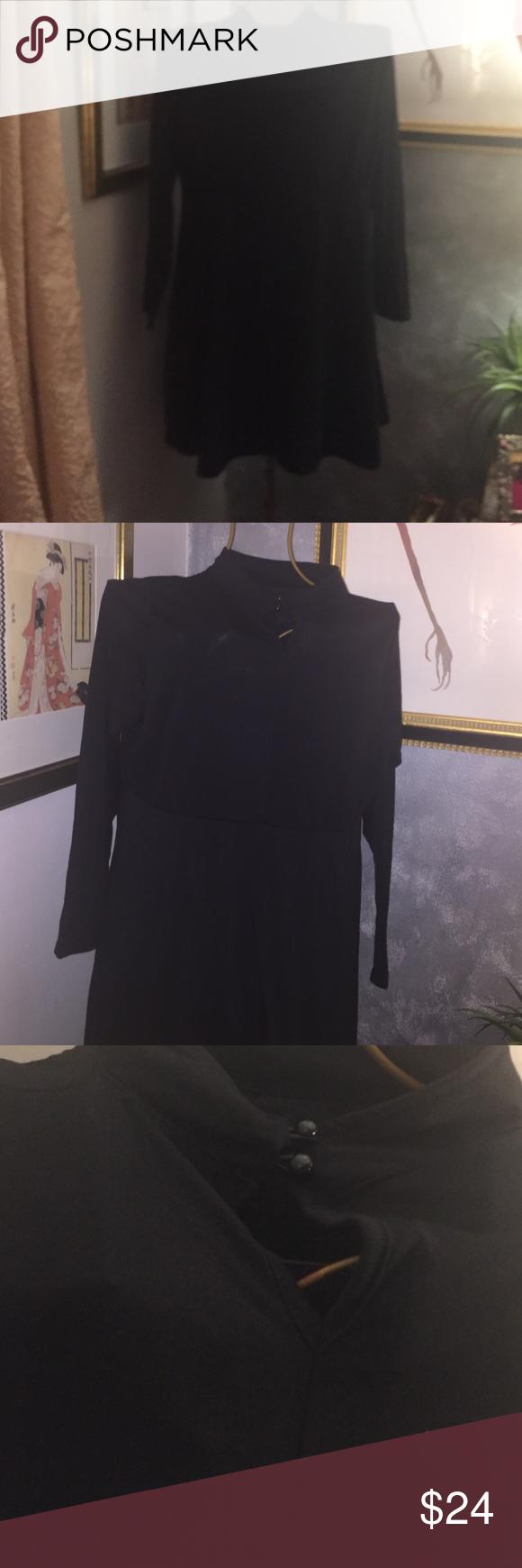 Black flare dress Brand new black circle mini flare dress. Dresses Mini