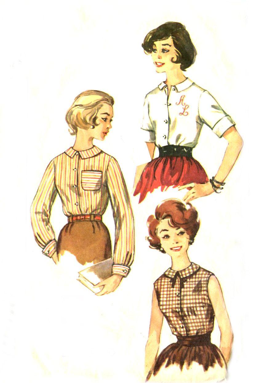 S easy blouse simplicity short long sleeve