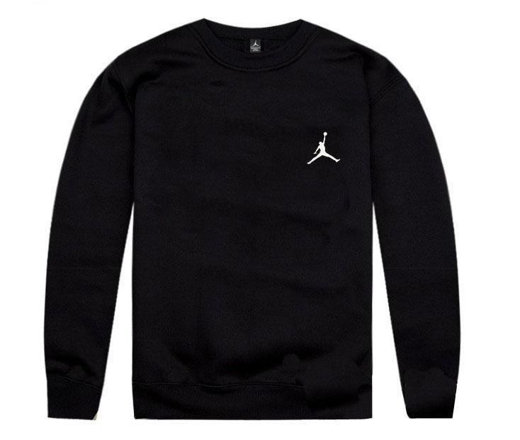 d49064cd48c Mens Air Jordan White Jumpman Small Logo Printed On Left Chest USA Best  Selling Fashion Crewneck Sweatshirt - Black