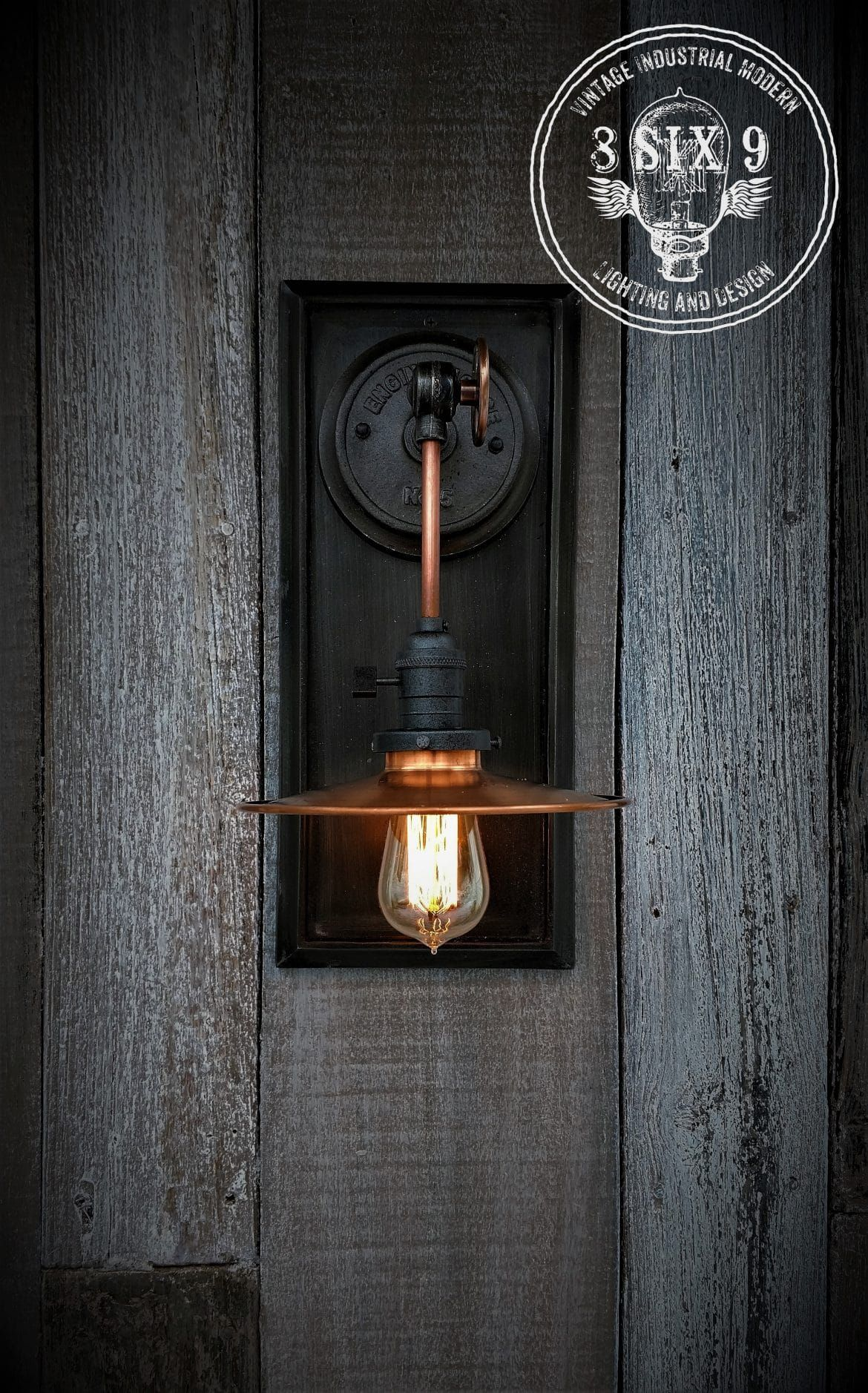 Industrial Copper Metal Shaded Wall Sconce Vintage Industrial Decor Wall Sconces Sconces