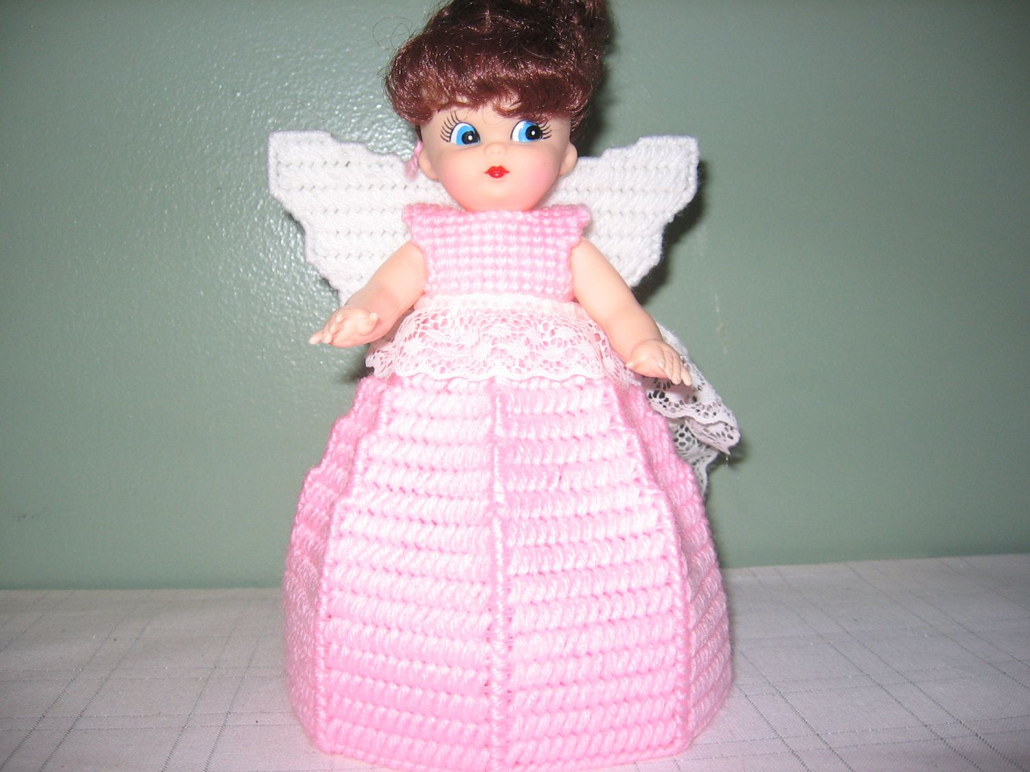 Light Pink Angel Air Freshner or Angel Tree Topper Collectible Doll by CreationsbyAMJ on Etsy #airfreshnerdolls