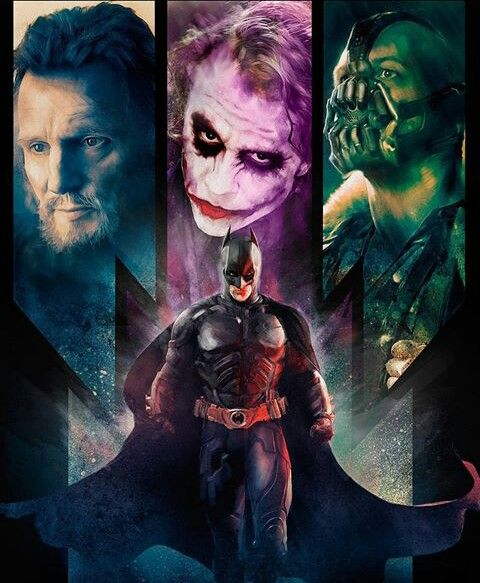 Ras al' Ghul, Joker, Bane and Batman ❤