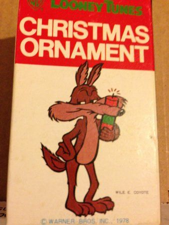 1978 Warner Bros Cartoon Character the Wilee Coyote -- Looney Tunes Christmas Ornament